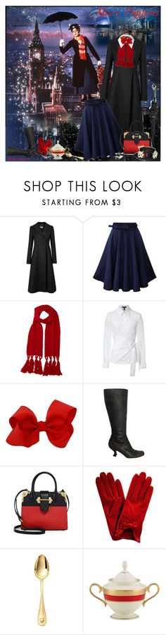 """""""Mary Poppins"""" by prettyasapicture ❤ liked on Polyvore featuring Sportmax, Mulberry, ESCADA, Prada, Versace and Lenox"""