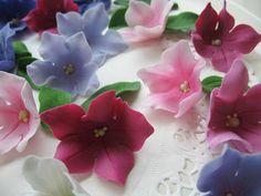 Petunia Polymer clay flower photo tutorial