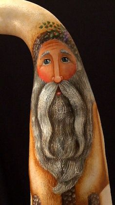 Hearth Santa - Hand Painted Santa Gourd. $220.00, via Etsy.