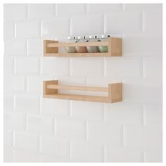 IKEA BEKVÄM spice rack Solid wood can be sanded and surface treated as needed.