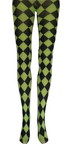 "Product Details All jokes aside, these lime green printed jester tights will make your next costume pop. Sizing Information: One Size Fits Most, 5'0""-5'8"", 100-160 lbs Large/Tall, 5'7""-6'2"", 150-200 l"