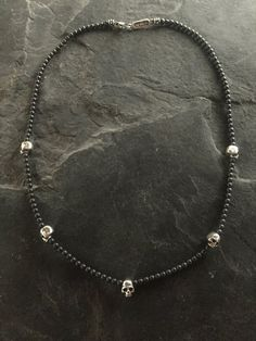 Necklace - Five Skulls w Hematite by Roman Paul #romanpaul