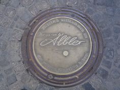 This is a beautiful unique manhole cover located at the Weibermarkt in Reutlingen, Germany, Baden-Württemberg.