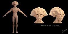 aliens, alien design, zbrush, 3d models