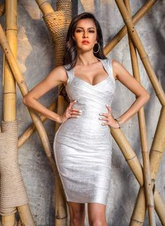 a8bba28645673 95 Best Metallic Bandage Dresses images in 2019 | Bandage dresses ...