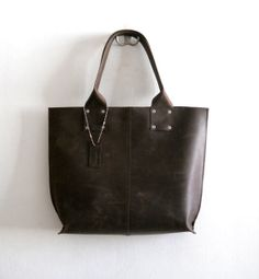 SALE 10  OFF  Oversize leather tote bag for every day by Smadars
