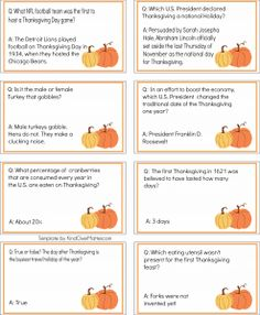 thanksgiving trivia cards pack 2 thanksgiving facts thanksgiving parties thanksgiving table thanksgiving recipes - Christmas Trivia Facts