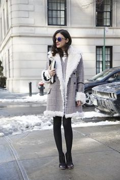 New York Fashion Week street chic Tights Outfit Winter, Fall Winter Outfits, Winter Wear, Autumn Winter Fashion, Winter Style, Daily Fashion, Love Fashion, Style Fashion, Street Chic