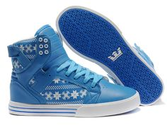 2013 Supra Skytop White Snowflake Blue Pattern Shoes.cheap supra shoes for sale online - www.24hshoesmall.com
