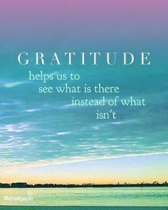 Gratitude helps us see what is there instead of what isn't. Embrace gratitu… Gratitude helps us see what is there instead of what isn't. Attitude Of Gratitude Quotes, Good Attitude Quotes, Positive Quotes, Words Of Gratitude, Deep Meaningful Quotes, Inspirational Quotes, English Frases, Gratitude Challenge, Gratitude Ideas