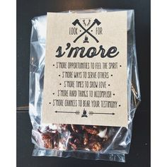 Ruffled Sunshine: Look for S'more printable handout #lds