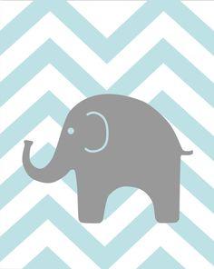 Gray Chevron Nursery Elephant Nursery Winnie the by karimachal