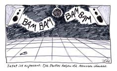 Cartoon von Teja Fischer aus der Titanic-Ausgabe vom April 2014