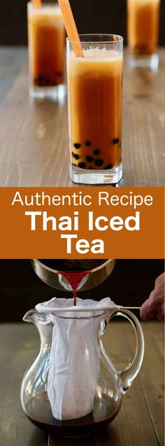 Thai iced tea is an orange-hued cold beverage prepared with black tea, sugar and cream or milk, that is very popular in Thailand and Southeast Asia.