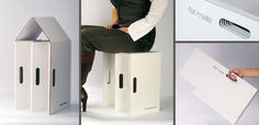 Cardboard Chair, Cardboard Furniture, Cardboard Crafts, Portable Stool, Portable Toilet, Furniture Making, Cool Furniture, Furniture Design, Diy Stool