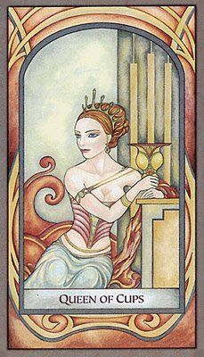 Queen of Cups from the Fenestra Tarot deck