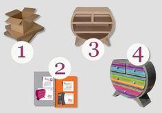 Fabriquer des meubles en carton avec l'Atelier Chez Soi - méthode et fouritures