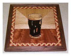 "Marqueterie ""Pinte"" / ""Pint"" Marquetry 2006 Noyer, sapelli, chêne, wengé, ronces, érable, frêne, placage teint Walnut, sapelli, oak, wenge, burr, maple, ash, dyed veneer)"