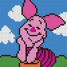 Piglet Plastic Canvas Wallhanging Pattern