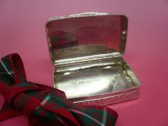Antique Silver Snuff Box Nathaniel Mills Hallmarked 1848 Floral & Scroll Design