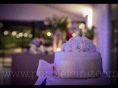 A Purple icing wedding cake that travelled from London to Spain. How To Make Cake, Icing, Wedding Cakes, Spain, London, Purple, Desserts, Food, Wedding Gown Cakes