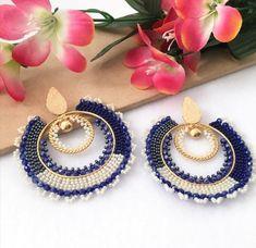 Beaded Jewellery, Peyote Stitch, Brick Stitch, Bead Weaving, Jewelry Crafts, Diana, Crochet Earrings, Angeles, Drop Earrings