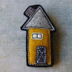 Felt Brooch no.22 House Series - by eclecticmoi on madeit
