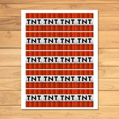 Minecraft TNT Label * Minecraft TNT Party Favor Printable * Minecraft Party