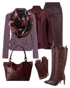 """""""# plum for fall # shades of fall # best sets # leather for the office"""" by andrea-jones-4 ❤ liked on Polyvore featuring Warehouse, Raoul, Giambattista Valli, Diane Von Furstenberg, Frye and Mulberry"""