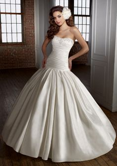 Angelina Faccenda Bridal Couture - Mori Lee Style 1227 silk shantung with beading