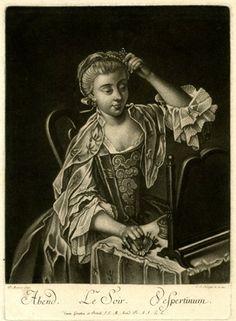 """""""Le Soir"""" by J. S. Negges after P. Mercier 1740"""