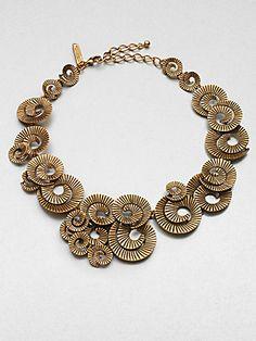 Oscar de la Renta Spiral Collar Necklace