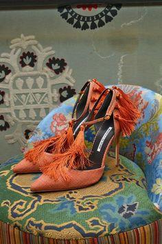 Manolo Blahnik SS 2014 #shoes #fashion #tassels'