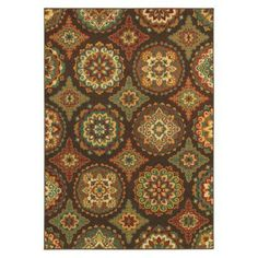 Shaw Living® Suzani Area Rug - Orange and blue are much brighter than in the pic - $179 for 7 x 10!