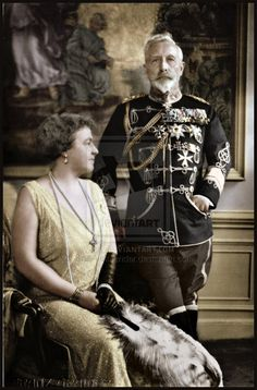 Hahnemuhle PHOTO RAG Fine Art Paper (other products available) - Kaiser Wilhelm II with his second wife, Princess Hermine Reuss - Image supplied by Mary Evans Prints Online - Fine Art Print on Paper made in the UK Wilhelm Ii, Kaiser Wilhelm, Queen Victoria Family, Princess Victoria, Otto Von Bismarck, Germany And Prussia, King Of Prussia, German People, Fine Art Prints