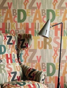 Large printed letter wallpaper