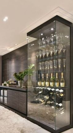 dining room 481533385155196063 - Agencement Cuisine : Lovely wine storage Source by mathildeviel Diy Home Bar, Bars For Home, Home Wine Cellars, Glass Wine Cellar, Wine Cellar Design, Glass Bar, Wine Wall, Wine Storage, Storage Area