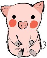 Cute Black And White Pig Clip Art Pinterest Template