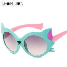 LeonLion New Cartoon Fox Sunglasses Children Travel Outdoor Silica Gel  Candy Color Goggles Oculos De Sol 692e8c0cef