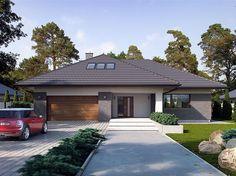 Zdjęcie projektu Goran 2 BSE1101 My House Plans, Modern House Plans, Modern House Design, Morrocan House, Modern Bungalow House, Beautiful House Plans, Home Garden Design, Spanish House, Dream House Exterior