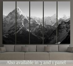Spectacular mountain scenery on the Mount Everest Base Camp trek through the Himalaya №2702 Framed Canvas Print