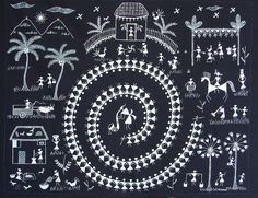 A village scene... warli art