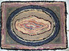 Vintage hand hooked rug