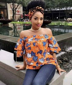 Ankara always helps you make a bold fashion statement. Ankara tops are one of the hottest things in the fashion world right now, and the are super creative and fashionable.Here are some lovely Ankara Aso Ebi top styles that will make you on top of the. African Dresses For Women, African Print Dresses, African Attire, African Wear, African Women, African Style, African Prints, African Fashion Ankara, African Fashion Designers