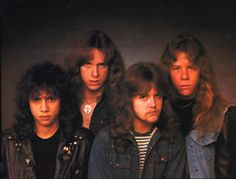 """Metallica in 1983 on the cover of their """"Kill """"Em All"""" album.  Man alive, I'm feeling old!"""