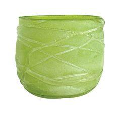 green ice vase
