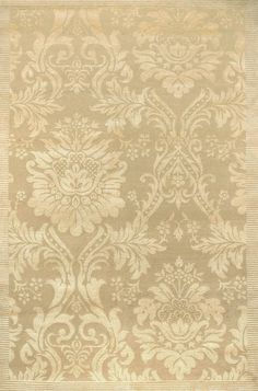 Couristan Impressions Antique Damask Gold / Ivory (8064/0264) Area Rugs