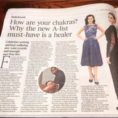 Crystals in the Times news paper