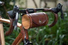 Guidon baril de vélo en cuir sac