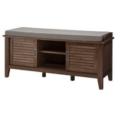 Threshold™ Storage Bench with Slatted Doors in white for my office?